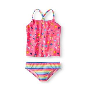 Wonder Nation Cross Back Tankini Swimsuit NEW!